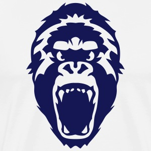 gorilla head wild animal Hoodies - Men's Premium T-Shirt