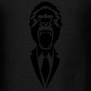 gorilla suit and tie tie 2502 Long Sleeve Shirts - Men's T-Shirt
