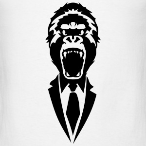 gorilla suit and tie tie 2502 Tanks - Men's T-Shirt