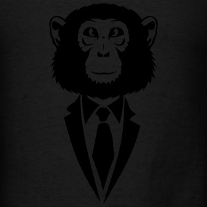 monkey suit and tie tie 2502 Long Sleeve Shirts - Men's T-Shirt