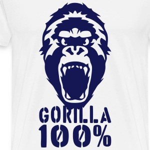 gorilla 100 2502 Hoodies - Men's Premium T-Shirt