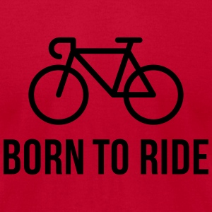 Born To Ride (Racing Bicycle / Bike) Tanks - Men's T-Shirt by American Apparel