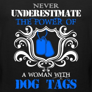 Dog Tags Woman Veteran - Men's Premium Tank