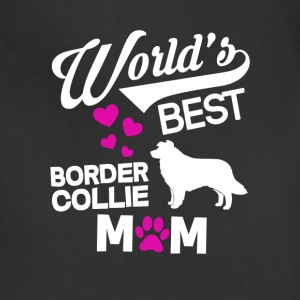 Border Collie Dog Mom T-Shirt T-Shirts - Adjustable Apron