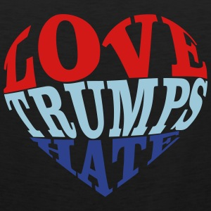 Love Trumps Hate Heart T-Shirts - Men's Premium Tank