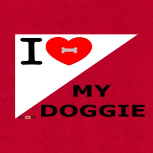 I love my doggie - Men's T-Shirt by American Apparel