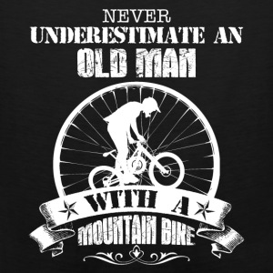 Old Man With A Mountain Bike Shirt - Men's Premium Tank