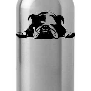 Bulldog Stencil Womens  - Water Bottle
