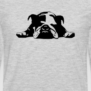 Bulldog Stencil Womens  - Men's Premium Long Sleeve T-Shirt