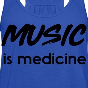 Music is my medicine T-Shirts - Women's Flowy Tank Top by Bella