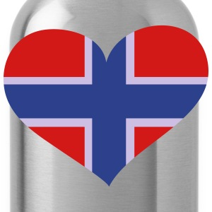 Norway Heart; Love Norway Polo Shirts - Water Bottle