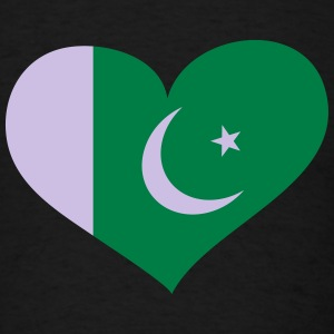Pakistan Heart; Love Pakistan Long Sleeve Shirts - Men's T-Shirt
