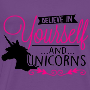 Believe in unicorns Tanks - Men's Premium T-Shirt