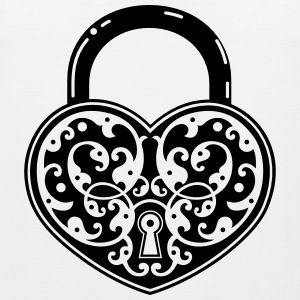 vintage heart shaped lock - Men's Premium Tank