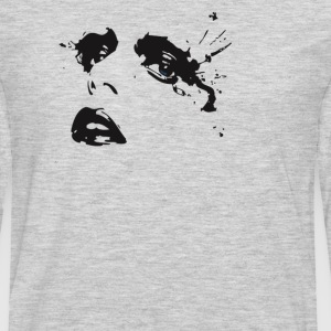 Crying Girl Stencil  - Men's Premium Long Sleeve T-Shirt