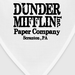 LARGE DUNDER MIFFLIN THE OFFICE VINTAGE COLLEGE  - Bandana