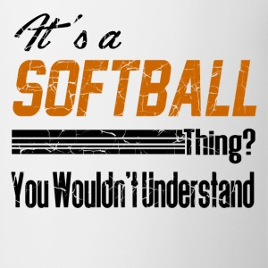 softball11.png Kids' Shirts - Coffee/Tea Mug