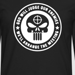 Punisher God Will Judge Funny Military Army  - Men's Premium Long Sleeve T-Shirt