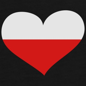 Poland Heart; Love Poland Mugs & Drinkware - Men's Premium T-Shirt