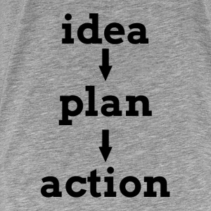 IDEA PLAN ACTION KEY TO SUCCESS Hoodies - Men's Premium T-Shirt