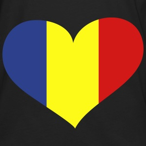 Romania Heart; Love Romania Bags & backpacks - Men's Premium Long Sleeve T-Shirt