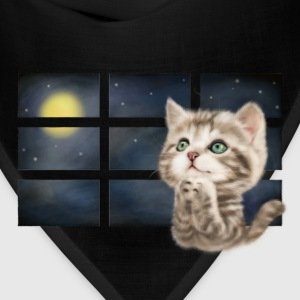 praying cat (black T-shirt) - Bandana
