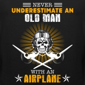 Old Man With An Airplane - Men's Premium Tank