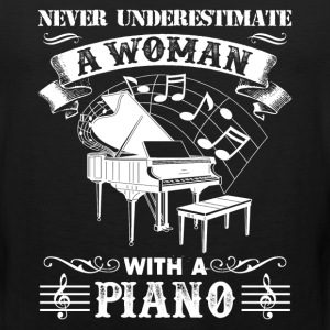 Woman With A Piano Shirt - Men's Premium Tank