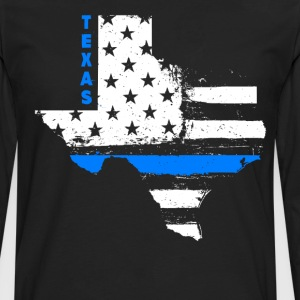 Texas Thin Blue Line - Men's Premium Long Sleeve T-Shirt