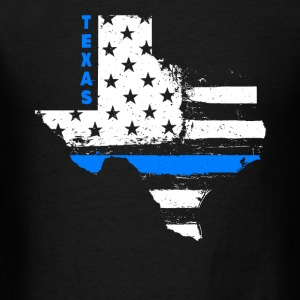 Texas Thin Blue Line - Men's T-Shirt