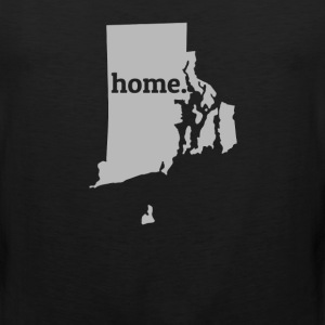 Rhode Island Is My Home T-Shirt T-Shirts - Men's Premium Tank