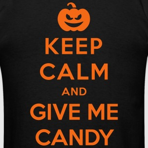 Keep Calm Give Me Candy - Funny Halloween Zip Hoodies & Jackets - Men's T-Shirt