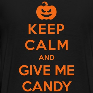 Keep Calm Give Me Candy - Funny Halloween Zip Hoodies & Jackets - Men's Premium T-Shirt