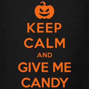 Keep Calm Give Me Candy - Funny Halloween Bags & backpacks - Men's T-Shirt