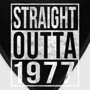 Straight Outta 1977 40th Birthday T-Shirts - Bandana