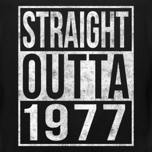 Straight Outta 1977 40th Birthday T-Shirts - Men's Premium Tank