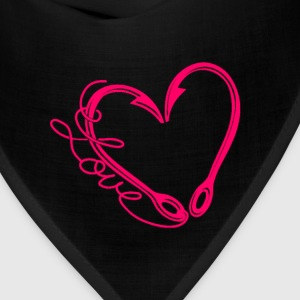Fishing lover - My heart is made of fishing hook - Bandana