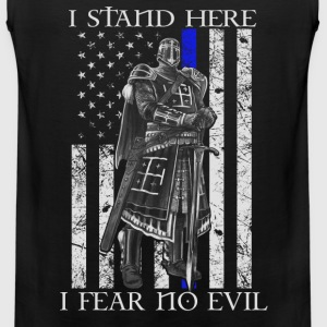 Crusader - I stand here fearing no evil flag tee - Men's Premium Tank