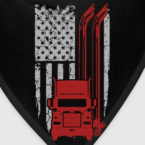Trucker - Cool Flag t-shirt for american trucker - Bandana