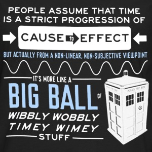 Doctor who - Wibbly wobbly timey wimey stuff tee - Men's Premium Long Sleeve T-Shirt