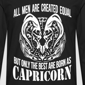 Capricorn - The best men are born as capricorn - Men's Premium Long Sleeve T-Shirt