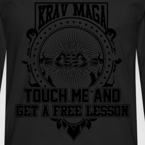 Krav maga - Touch me and get a free lesson tee - Men's Premium Long Sleeve T-Shirt