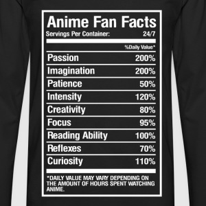 Anime fan facts - Daily value may vary - Men's Premium Long Sleeve T-Shirt