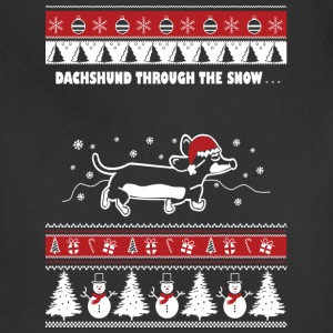 Christmas sweater for Dachshund lover - Adjustable Apron