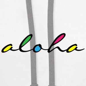 ALOHA colourful Mugs & Drinkware - Contrast Hoodie