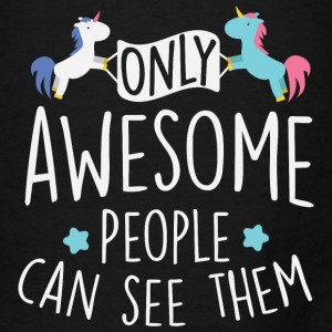 Unicorns: only awesome people can see them Bags & backpacks - Men's T-Shirt