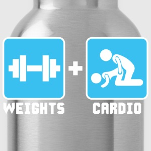 Weights and Cardio T-Shirts - Water Bottle