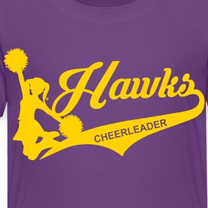 Hawks Cheer Glitz - Toddler Premium T-Shirt