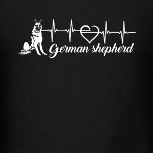 German Shepherd Heartbeat - Men's T-Shirt