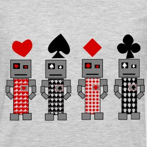 Robot Cards - Men's Premium Long Sleeve T-Shirt